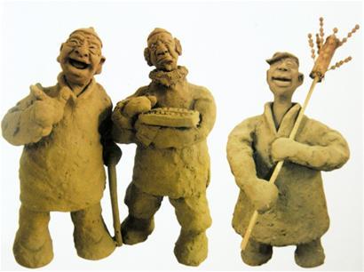 儿童动物泥塑造型