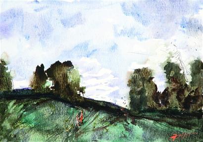 油畫風景展,俄羅斯風情寫生展優秀獎作品;水彩畫&