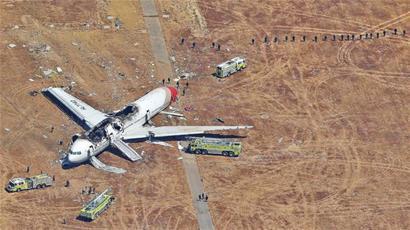 飞机降落时高度不够
