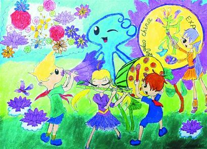 美术粘贴画农作物-中小学生绘画剪贴画展览比赛