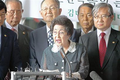 访朝期间,李姬镐未能与朝鲜最高领导人金正恩会面.-金大中遗孀未图片