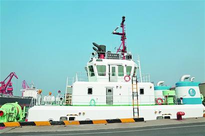 国内沿海港口首艘三用拖轮在青投用-青岛报纸电子版