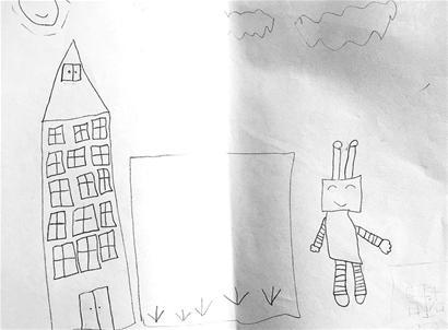 一年级画画房子图片大全简单画
