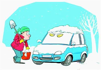 下雪了车玻璃上画画