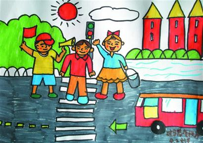 关于文明的简单画_巧手童心画青岛携手创文明城-青岛报纸电子版