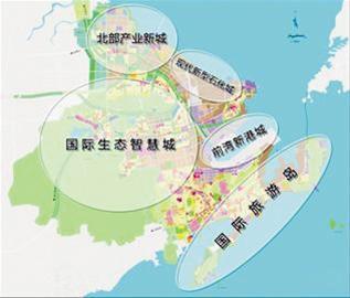 规划面积约10平方公里,距青岛流亭国际机场30公里,通过胶州湾大桥和