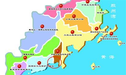 青岛市胶南市区地图