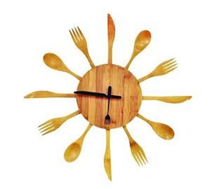 手工制作木头钟表