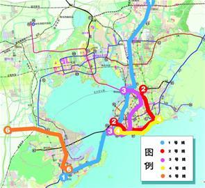 3号线 青岛站—青岛北站-五条地铁线两条通黄岛