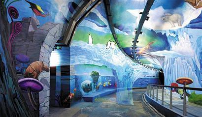 天鹅戏水瀑布飞流原来都是奇妙3d画图片
