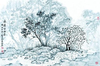 design 风景画画速写_风景520   板报网_2018年手抄报版面设计图_黑板