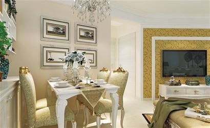 整个客厅的设计可以看到,虽然棚面的石膏线和元宝线的搭配上看似简单