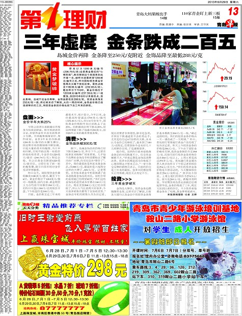黄金牌价-青岛报纸电子版