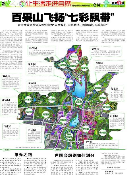 青岛世园会选址崂山百果山森林公园; 青岛报纸电子版;