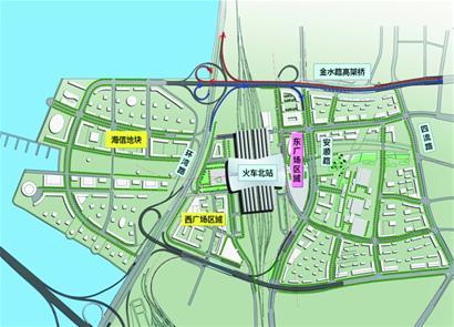 青岛北站出站口平面图