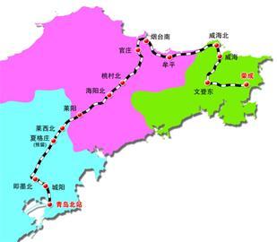 青荣城际铁路路线图