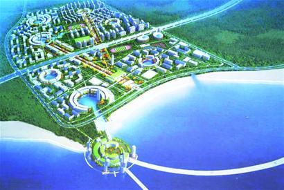 """1号团队设计方案中的7个建筑群全部围绕海洋景观建设,""""我们计划把"""