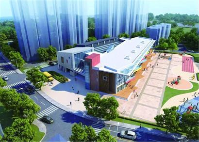 教学楼内设教室,科技教室,报告厅,图书阅览室等;地下3层,中心庭院广场图片